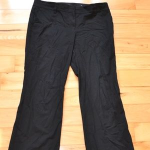 Ann Taylor PANTS black WOMEN 12 boot cut rayon